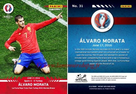 Panini Instant Euro 2016 - N° 031 - Alvaro MORATA