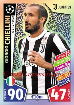 2017-18 - Topps UEFA Champions League Match Attax - N° 365 - Giorgio CHIELLINI (Juventus) (Defensive Dynamo)