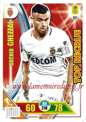 2017-18 - Panini Adrenalyn XL Ligue 1 - N° 501 - Rachid GUEZZAL (Monaco) (Top Recrue)