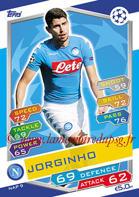 2016-17 - Topps UEFA Champions League Match Attax - N° NAP9 - JORGINHO (SSC Naples)