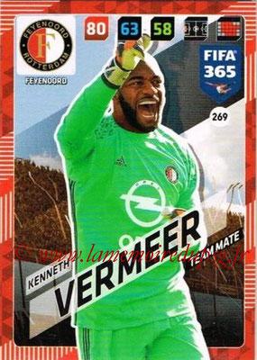 2017-18 - Panini FIFA 365 Cards - N° 269 - Kenneth VERMEER (Feyenoord)