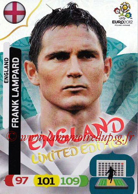Panini Euro 2012 Cards Adrenalyn XL - N° LE15 - Frank LAMPARD (Angleterre) (Limited Edition)