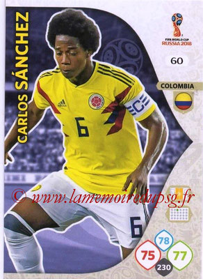 2018 - Panini FIFA World Cup Russia Adrenalyn XL - N° 060 - Carlos SANCHEZ (Colombie)