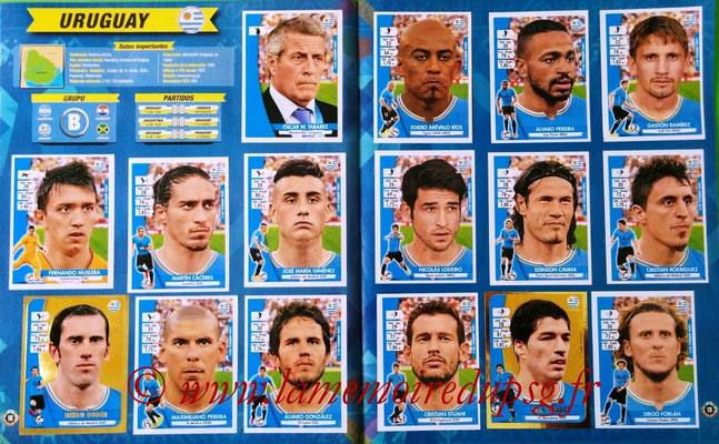 Navarette Copa America Chile 2015 Stickers - Pages 18 et 19 - Uruguay