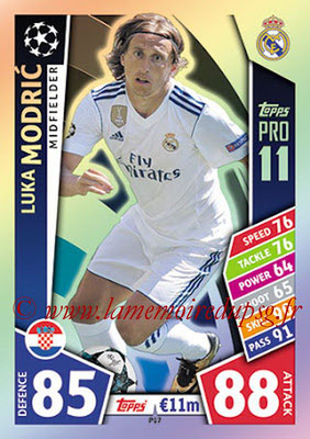 2017-18 - Topps UEFA Champions League Match Attax - N° P17 - Luka MODRIC (Real Madrid CF) (Pro 11)