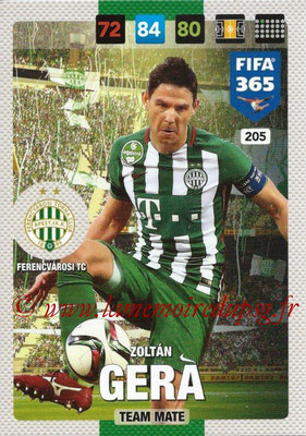 2016-17 - Panini Adrenalyn XL FIFA 365 - N° 205 - Zoltan GERA (Ferencvarosi TC)
