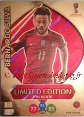 2018 - Panini FIFA World Cup Russia Adrenalyn XL - N° LE-BS - Bernardo SILVA (Portugal) (Limited Edition Premium)