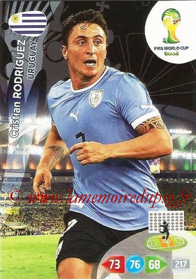 2014 - Panini FIFA World Cup Brazil Adrenalyn XL - N° 311 - Cristian RODRIGUEZ (Uruguay)