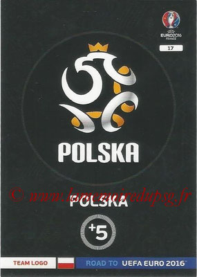 Panini Road to Euro 2016 Cards - N° 017 - Ecusson Pologne