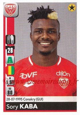 2018-19 - Panini Ligue 1 Stickers - N° T09 -Sory KABA (Dijon) (Transfert)