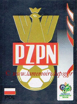 2006 - Panini FIFA World Cup Germany Stickers - N° 056 - Ecusson Pologne
