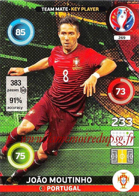 Panini Euro 2016 Cards - N° 269 - Joao MOUTINHO (Portugal) (Key Player)