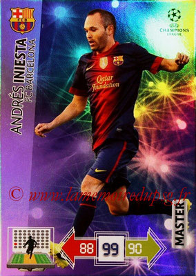 2012-13 - Adrenalyn XL champions League N° 329 - Andres INIESTA (FC Barcelone) (Master)