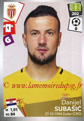 2017-18 - Panini Ligue 1 Stickers - N° 261 - Danijel SUBASIC (Monaco)