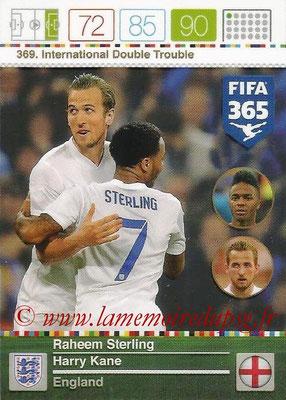 2015-16 - Panini Adrenalyn XL FIFA 365 - N° 369 - Raheem STERLING + Harry KANE (Angleterre) (International Double Trouble)