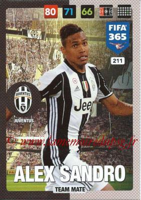 2016-17 - Panini Adrenalyn XL FIFA 365 - N° 211 - ALEX SANDRO (Juventus FC)