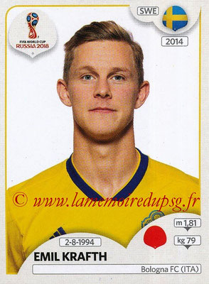 2018 - Panini FIFA World Cup Russia Stickers - N° 480 - Emil KRAFTH (Suede)