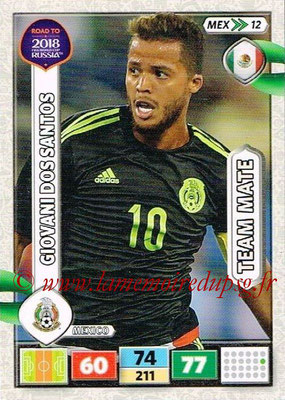 2018 - Panini Road to FIFA World Cup Russia Adrenalyn XL - N° MEX12 - Giovani DOS SANTOS (Mexique)