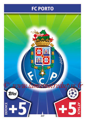 2017-18 - Topps UEFA Champions League Match Attax - N° 217 - Logo FC Porto (Club Badge)