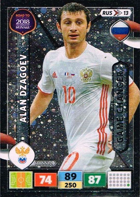 2018 - Panini Road to FIFA World Cup Russia Adrenalyn XL - N° RUS13 - Alan DZAGOEV (Russie) (Game Changer)