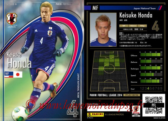 Panini Football League 2014 - PFL06 - N° 138 - Keisuke HONDA (Japon) (Star +)