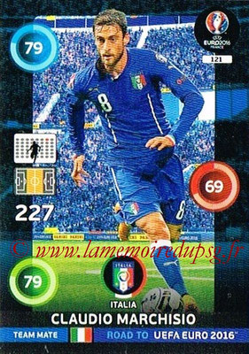 Panini Road to Euro 2016 Cards - N° 121 - Claudio MARCHICIO (Italie)
