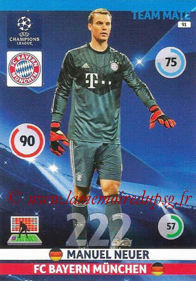 2014-15 - Adrenalyn XL champions League N° 091 - Manuel NEUER (Bayern Munich)
