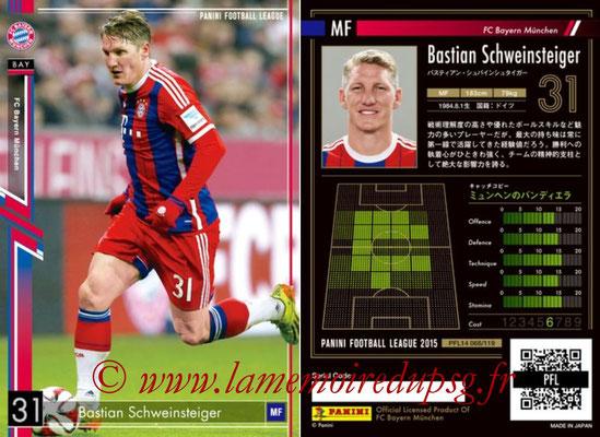 Panini Football League 2015 - PFL14 - N° 068 - Bastian SCHWEINSTEIGER (FC Bayern Munich)