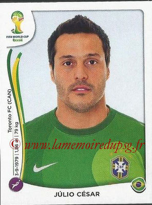 2014 - Panini FIFA World Cup Brazil Stickers - N° 034 - Julio CESAR (Brésil)