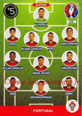 Panini Euro 2016 Cards - N° 279 - Équipe Type du Portugal