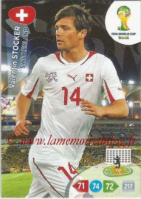 2014 - Panini FIFA World Cup Brazil Adrenalyn XL - N° 296 - Valentin STOCKER (Suisse)