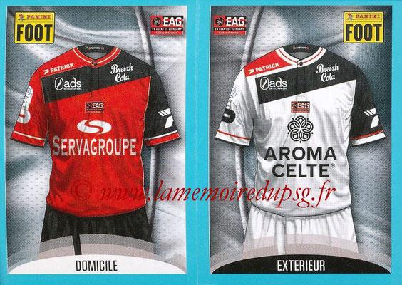 2016-17 - Panini Ligue 1 Stickers - N° 216 + 217 - Maillot Domicile + Extérieur (Guingamp)