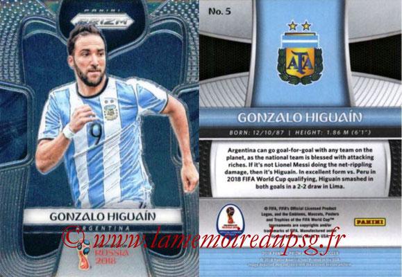 2018 - Panini Prizm FIFA World Cup Russia - N° 005 - Gonzalo HIGUAIN (Argentine)
