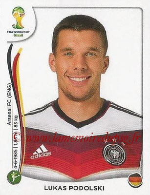 2014 - Panini FIFA World Cup Brazil Stickers - N° 504 - Lukas PODOLSKI (Allemagne)