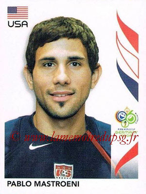 2006 - Panini FIFA World Cup Germany Stickers - N° 352 - Pablo MASTROENI (États Unis)
