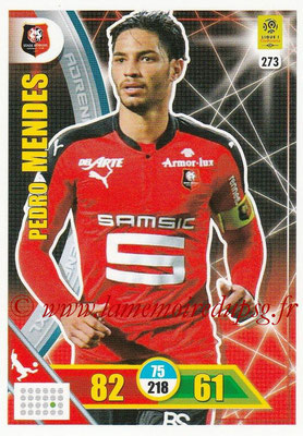 2017-18 - Panini Adrenalyn XL Ligue 1 - N° 273 - Pedro MENDES (Rennes)
