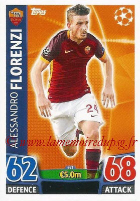 2015-16 - Topps UEFA Champions League Match Attax - N° 443 - Alessandro FLORENZI (AS Roma)