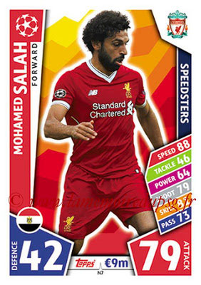 2017-18 - Topps UEFA Champions League Match Attax - N° N07 - Mohamed SALAH (Liverpool FC) (Speedster) (Nordic Edition)