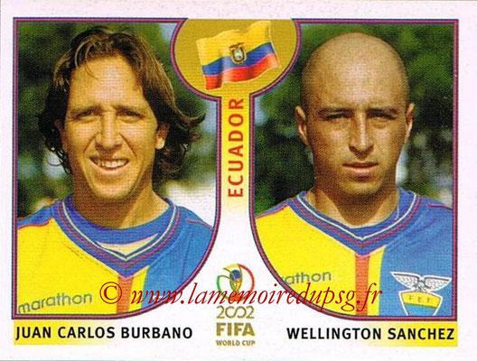 2002 - Panini FIFA World Cup Stickers - N° 518 - Juan Carlos BURBANO + Wellington SANCHEZ (Equateur)
