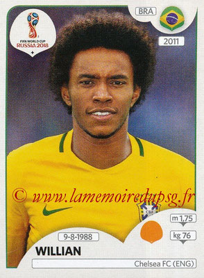 2018 - Panini FIFA World Cup Russia Stickers - N° 361 - WILLIAN (Bresil)