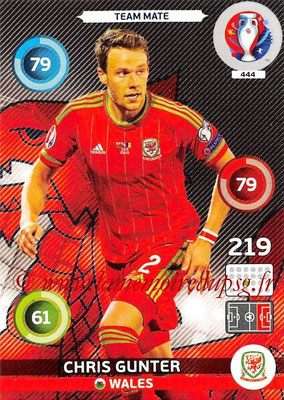 Panini Euro 2016 Cards - N° 444 - Chris GUNTER (Pays de Galles)