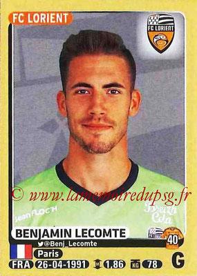 2015-16 - Panini Ligue 1 Stickers - N° 171 - Benjamin LECOMTE (FC Lorient)