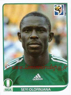 2010 - Panini FIFA World Cup South Africa Stickers - N° 136 - Seyi OLOFINJANA (Nigeria)