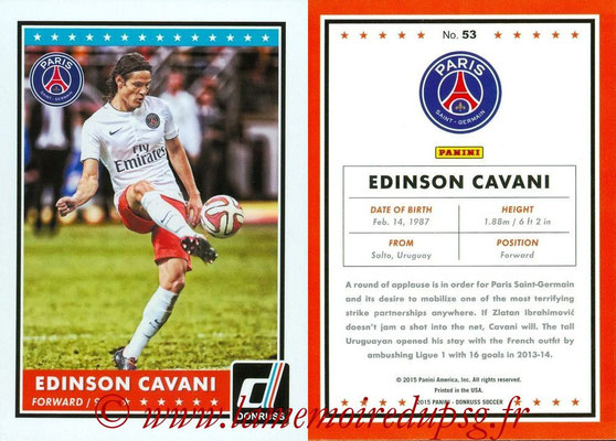 2015 - Panini Donruss Soccer - N° 053 - Edinson CAVANI (Paris Saint-Germain)