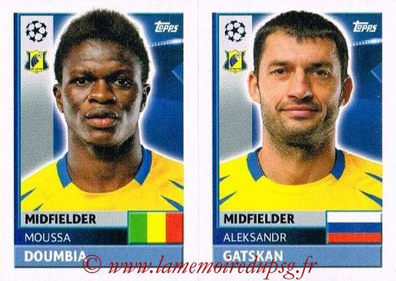 2016-17 - Topps UEFA Champions League Stickers - N° QFK 11-12 - Alexandru GATSKAN + Moussa DOUMBIA (FC Rostov)