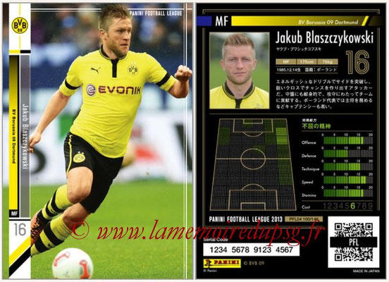 Panini Football League 2013 - PFL04 - N° 100 - Jakub BLASZCZYKOWSKI(Borussia Dortmund)