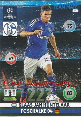 2014-15 - Adrenalyn XL champions League N° 231 - Klaas-Jan HUNTELAAR ( FC Schalke 04)