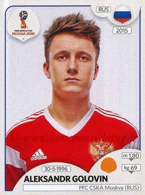 2018 - Panini FIFA World Cup Russia Stickers - N° 043 - Aleksandr GOLOVIN (Russie)