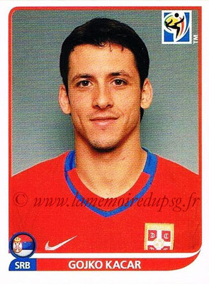 2010 - Panini FIFA World Cup South Africa Stickers - N° 310 - Gojko KACAR (Serbie)