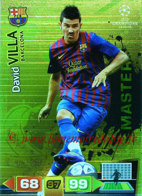 2011-12 - Panini Champions League Cards - N° 328 - David VILLA (FC Barcelone) (Master)